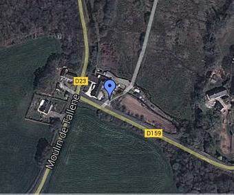 Plan d'accès au moulin de Sebrevet